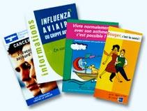 Brochures en brochette pour l'allergique
