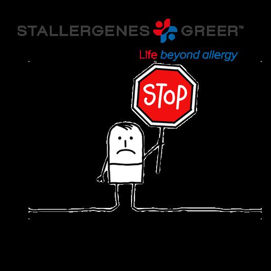 Suspension temporaire des produits Stallergenes.